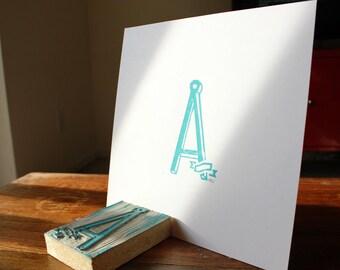 Linoleum Print Poster - A