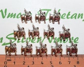 16 pcs per pack 14x16mm One side Bulldog charm Antique Silver Finish Lead Free Pewter