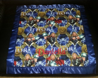 THOR Cotton/Fleece Security Blanket 30 inches x 40 inches Personalized