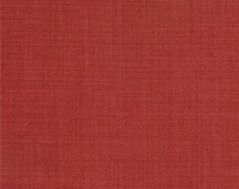 FRENCH GENERAL FAVORITES Moda by the half yard cotton quilt fabric rouge turkey red solid like 13529-23