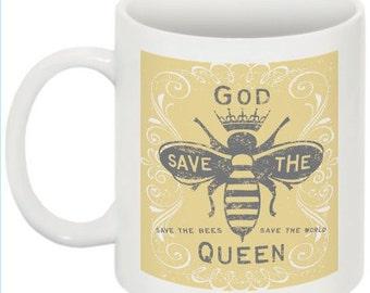 Bee Keeper, Bee Gift, Queen Bee, Bee Mug