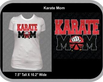 Karate Mom Glitter Vinyl Shirt