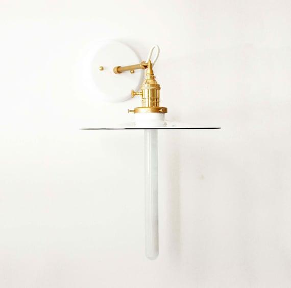 White Sconce Retro Wall Lamp Brass Wall Lighting White Lamp