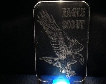 Nightlight LED - Eagle Scout - Laser Engraved