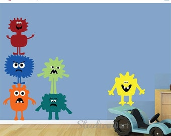 20% OFF SALE REUSABLE Monster Wall Decals - Sk307Swa
