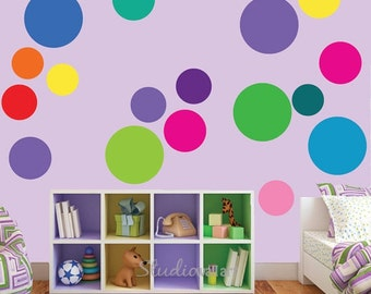 20% OFF SALE Circle Wall Decals HUGE Reusable Wall Decals - Sk331Swa