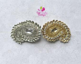 Pick Any 1 Paisley Clip - Baby Girl HairClips - Alligator Clips - Baby Girl Hair Bow - Baby Hair Accessories - Baby Bows - Gold Hair Clips