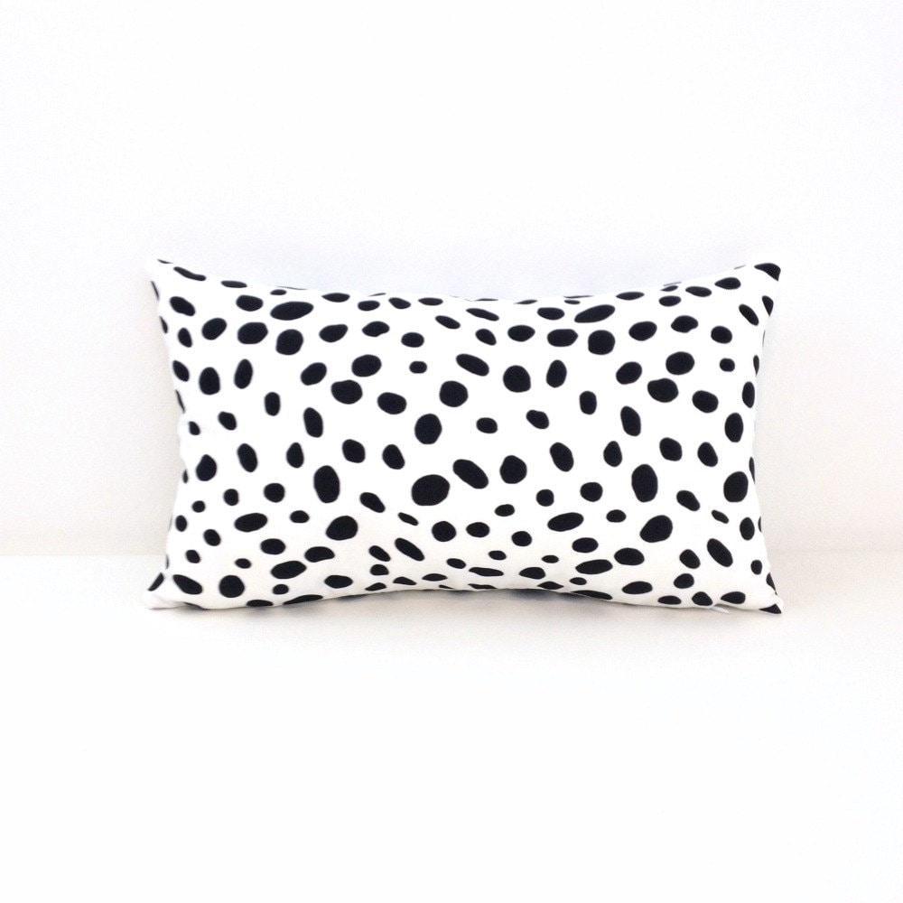 Extra Long Throw Pillows : Dalmatian Spot Pillow / Extra Long Lumbar Pillow / by ShopJanery