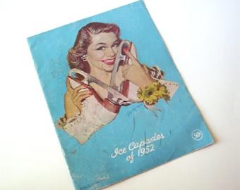 Vintage Ice Capades of 1952 Program, Walt Disney, 12th Cinderella Edition