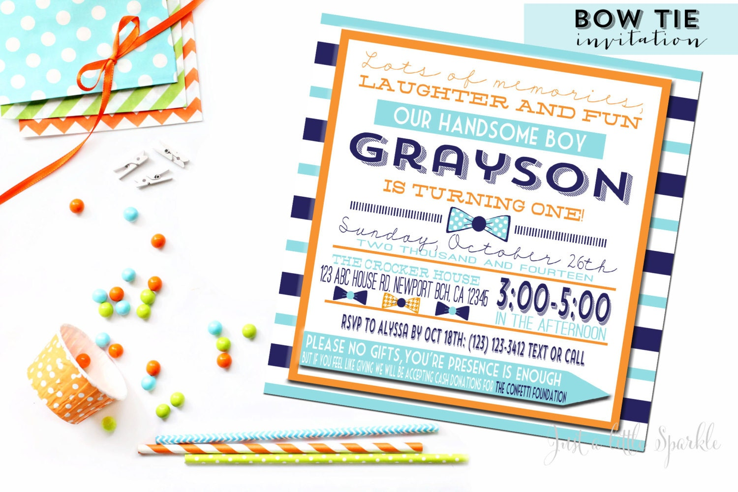 Bow Tie Inviation, Bow Tie Printable party set, Bow tie birthday ...