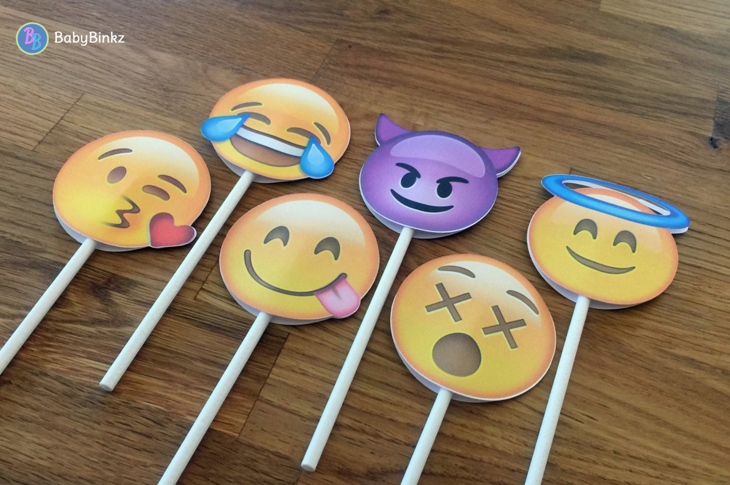 Emoji Cupcake Toppers Party Wedding Birthday Decoration