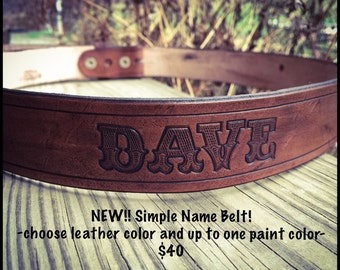 Custom Name Belt - Made to Order