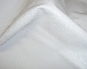 """Leather 12""""x12"""" Bright WHITE MILAN Cowhide 2.5-2.75oz / 1-1.1 mm - larger sizes available - PeggySueAlso™"""