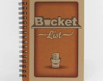 """Small Notebook """"Bucket List"""", Spiral Notebook"""