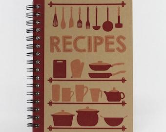"Kitchen Notebook ""Recipes"", Small Spiral Journal"