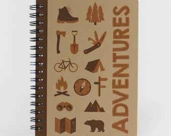 "Pocket Notebook ""Adventures"", Small Spiral Journal"