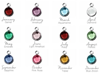 Add On Swarovski Crystal Birthstone Charm - Crystal Charm - Birthstone Add On - Extra Charm - Add On Charm