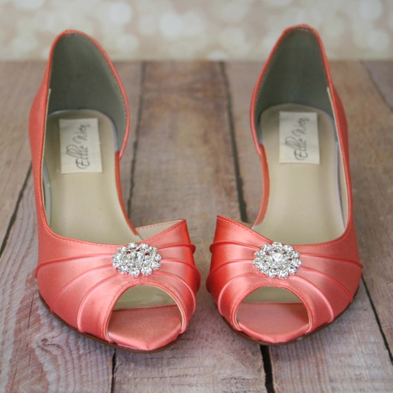 coral wedding shoes wedding shoes pink coral d orsay style by designyourpedestal 3066