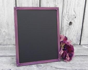 Shabby Chic Purple Framed Chalkboard, 8 x 10 Chalkboard, Wedding Chalkboard, Menu Chalkboard
