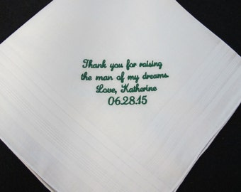Embroidered Wedding Handkerchiefs for the Father of the Groom
