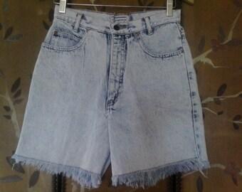 80s Palmettos stone washed high waist shorts