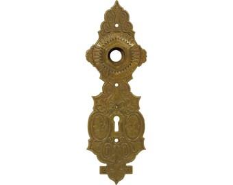 Cast brass back plate
