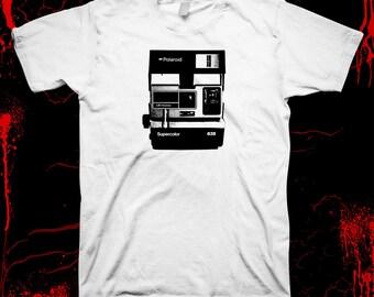 Polaroid camera - Pre-shrunk, hand screened 100% cotton t-shirt