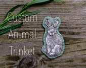 Custom Hand-Embroidered Animal Companion Trinket.