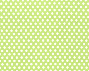 Michael Miller Fat Quarter Fabric for quilt or craft Kiss Dot in Lime Fat Quarter