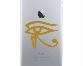 Eye of Ra Vinyl Phone Decal, Phone Sticker, Vinyl Sticker, Egyptian Phone Sticker, Egyptian Decal, Egyptian Tattoo, Eye of Horus