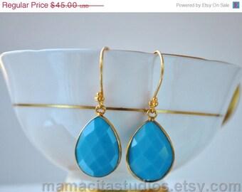 SALE Turquoise Earrings - December Birthstone Earrings - Turquoise Jewelry