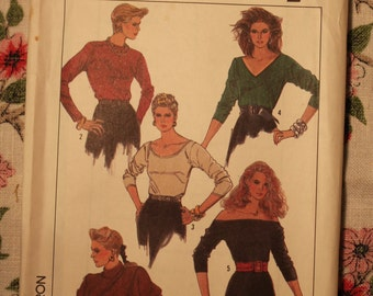 Simplicity Sewing Pattern 8238 Vintage 1987 Top Misses Size KK (8 -14)