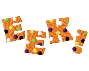 Halloween EEK! Embroidery Design - Instant Download