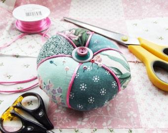 Pincushion in Pretty Vintage Fabrics