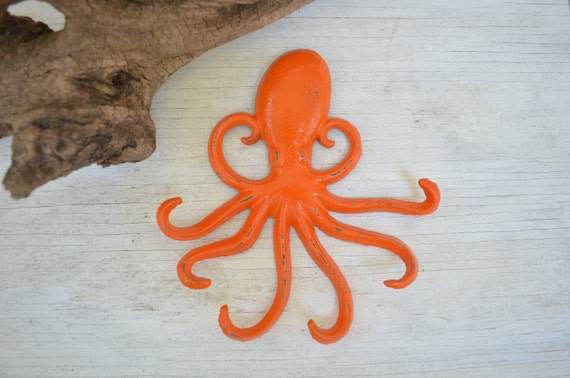 One octopus hook cast iron hook tropical decorcoat hook - Octopus towel hooks ...
