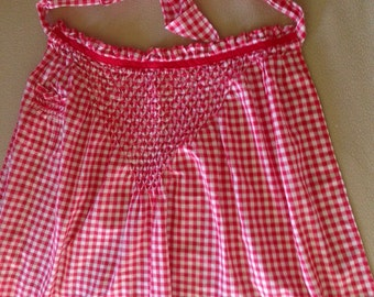 Cute Red and White Checked Apron