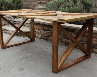 Rustic Wood Door Table / Desk By Foo Foo La La