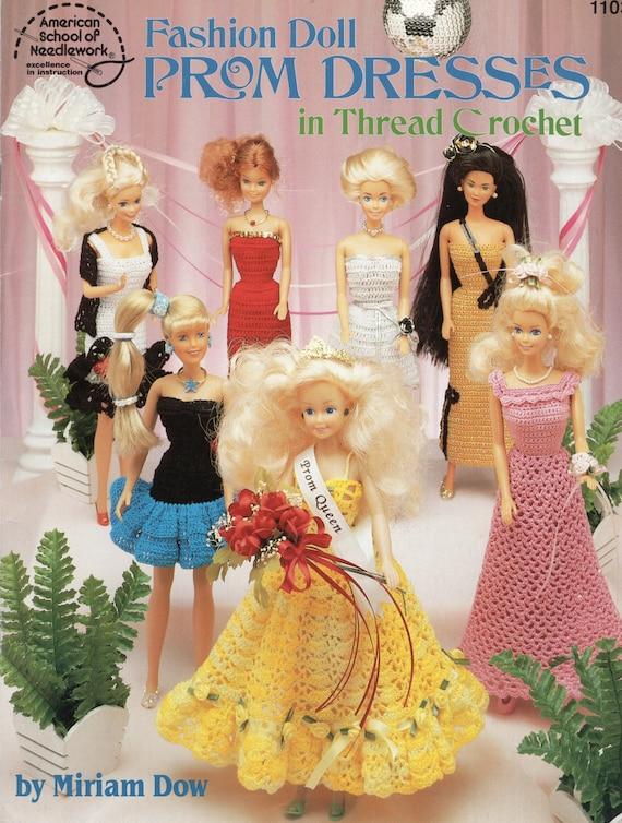 Fashion Doll Prom Dresses Barbie Crochet Pattern Book