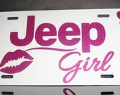 Jeep License Plate - Jeep Girl License Plate - FREE SHIPPING