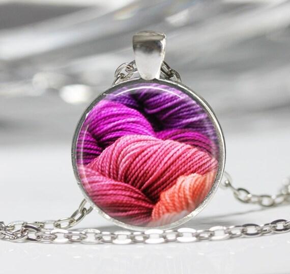 Knitting Wearable Art : Yarn necklace pendant wearable art knitting jewelry