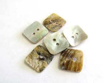 2 Hole Mother Of Pearl Buttons # B624