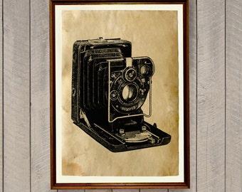 Vintage home decor Old camera poster Antique print AK456