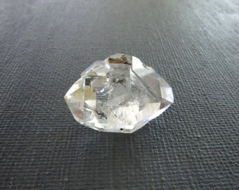 Herkimer Diamond Genuine from NY 1 Raw Crystal 22mm x 20mm / 30 Carats Natural Rough Stone from Upstate New York for Jewelry (Lot 9218)