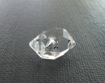 Herkimer Diamond Genuine from NY 1 Raw Crystal 18mm x 13mm / 9 Carats Natural Rough Stone from Upstate New York for Jewelry (Lot 9793)