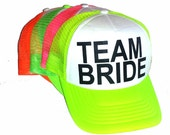Team Bride  Adult  Mesh Trucker Hat Cap Design  Snapback Bachelorette Party Girls Weekend Beach