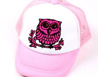 KID'S TODDLER OWL Mesh Trucker Hat Cap
