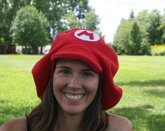 Super Mario Brothers Inspired-ADULT Fleece MARIO Hat-Halloween-Cosplay