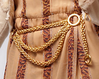 1980's Paloma Picasso Gold Plated Chain Belt or Necklace / Tiffany & Co.