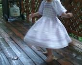Little Girls Vintage Pattern  Ribon Dress Made To Order Size 5