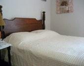 Vintage popcorn chenille bedspread